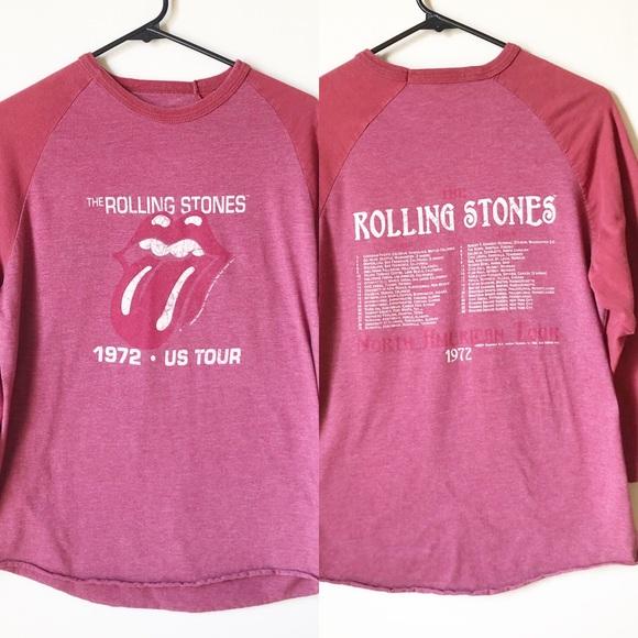 Rolling Stones 1972 US Tour Raglan Tee Shirt